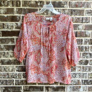 Kim Rogers Women's Peasant Boho Top Blouse